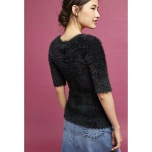 Knitted & Knotted Isola Fuzzy Faux Fur Sweater